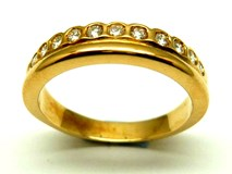 Anillo de oro y diamantes AN1300108