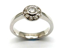 Bague or et diamants AN1464317