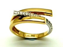 Bague or et diamants AN3400436