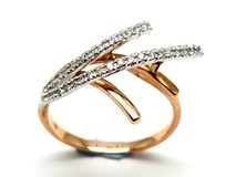 Bague or et diamants AN3401053