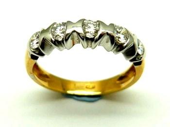 Anillo de oro y diamantes AN340932