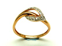 Anillo de oro y diamantes AN500009