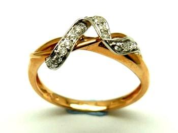 Anillo de oro y diamantes AN500019