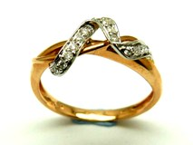 Anillo de oro y diamantes AN500019