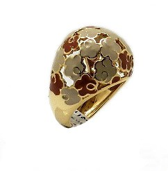 Gold and enamel ring
