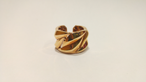 SILVER RING WITH GOLD PLATED ROSE ROBERTO COIN