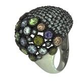 Bague en argent avec pierres de couleurs 301 LineArgent