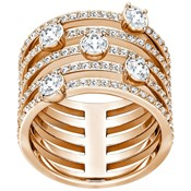 GOLDEN RING ROSÉ WITH SWAROVSKIS WHITE 5199633 5221421