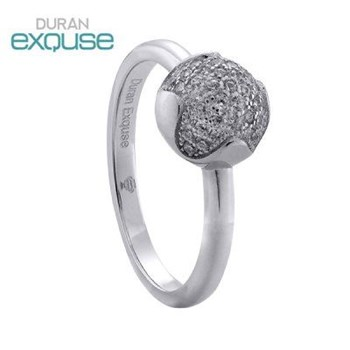 RING DURAN EXQUSE SILVER RHODIUM-PLATED AND STONES 00505147