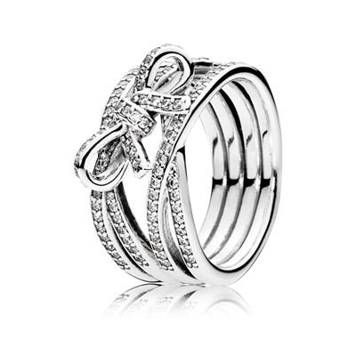 anillo lazo pandora barato