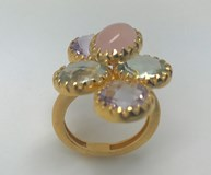 RING SILVER STONE COLOR NATURAL A3500 A3598PR
