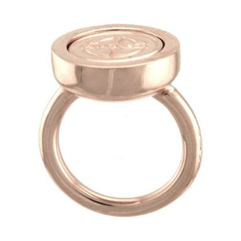 MY CURRENCY RHINE-DOL-03-52 ROSE GOLD PLATED SILVER RING Mi moneda RIN-DOL-03-52