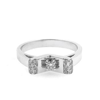 RING WHITE GOLD WITH DIAMONDS 0.20 CT 1170094