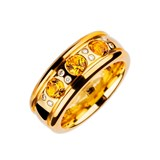 BAGUE OREAGE CITRINE DIAMANTS