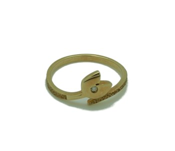 BRIGHT 1 AND 18K GOLD RING