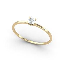 Anillo de Oro amarillo 18 kt  0,08 cts Diamantes, Cresber 1011078414