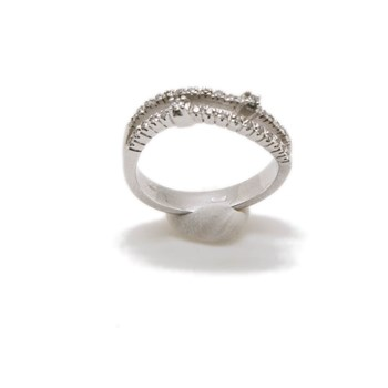 RING WHITE GOLD 18 K WITH BRIGHT 32
