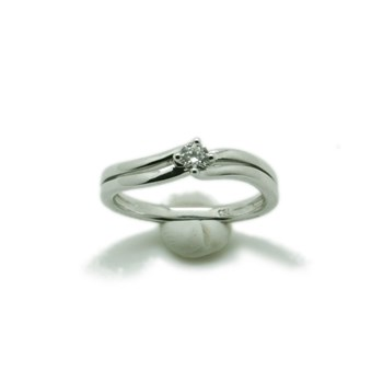 RING GOLD 18K WHITE AND BRIGHT 1 15 POINTS