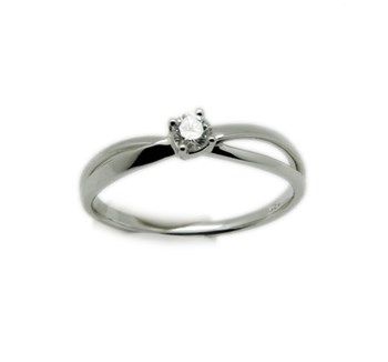 RING GOLD 18 K WHITE AND BRIGHT 1 16 POINTS