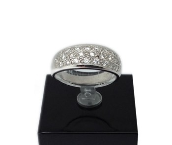 BAGUE OR BLANC ET DIAMANTS 970012