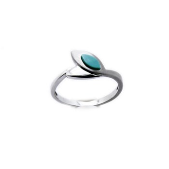 RING WHITE GOLD AND TURQUOISE