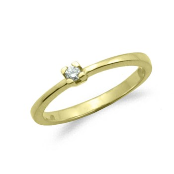 GOLD SHINY ENGAGEMENT RING