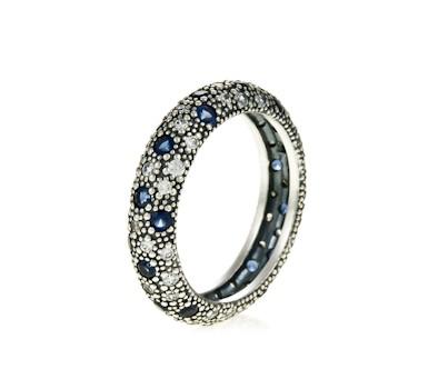 anillo pandora piedra azul