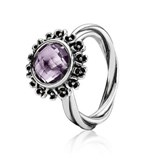 RING PANDORA SILVER AND AMETHYST 190850PAM-58