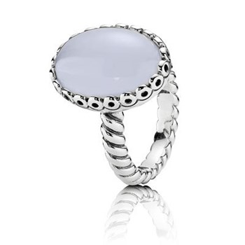 PANDORA SILVER AND 190842CA CHALCEDONY RING
