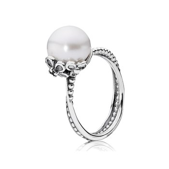 RING PANDORA SILVER AND PEARL 190848P