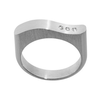 RING FOR WOMEN IN SURGICAL STEEL AND DIAMOND-XEN 011069GXX 011552GXX