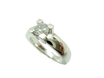 RING SILVER AND CUBIC ZIRCONIA S-1870 B-79