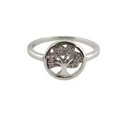 anillo plata arbol de la vida y circonita - Artesanal - JP69