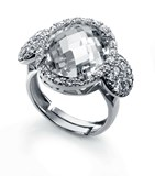 RING STERLING SILVER RHODIUM PLATED AND ZIRCONS VICEROY PENELOPE CRUZ 1190A012-30