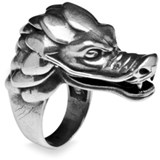 BAGUE SILVER STICK DRAGON ADR3T16 Plata de palo