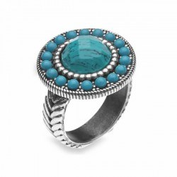 RING STICK WITH TURQUOISE CR4CT20 CR4CT14 SILVER Plata de palo