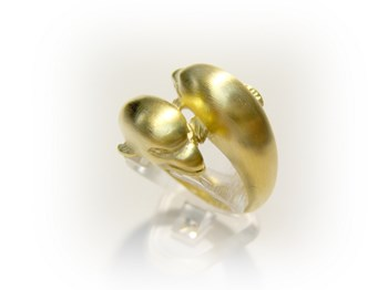 Silver Dolphin ring B-79 An-p-g