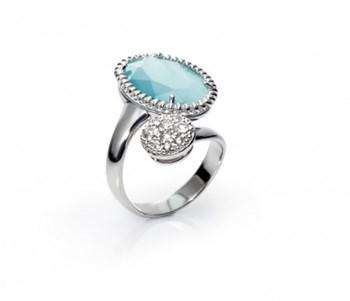 Anillo plata gemma azul 1192A012-43 Viceroy