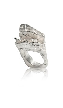 The burlap collection silver ring. Measurement contour ring No. 10 FP A49 - P Fili Plaza FP A49-P