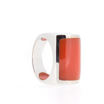 Bague argent corail Pierre  15S46O Stradda