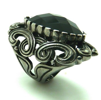 RING silver stone COLOR
