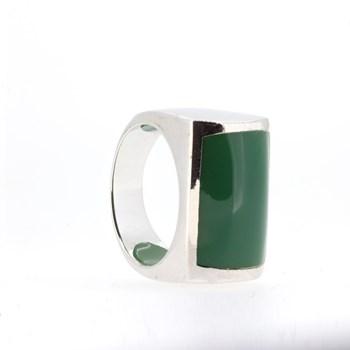 GREEN STONE SILVER RING  Stradda 15S46V