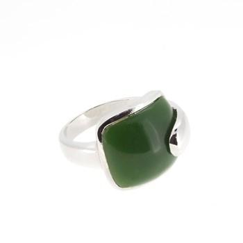 Anillo plata piedra verde 1547V Stradda