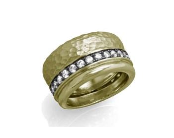 BATH OF GOLDEN COLOR AND ZIRCONITAS 91505DB STERLING SILVER RING Marina Garcia