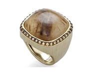 RING STERLING SILVER BATH GOLD CHAMPAGNE STONES AND QUARTZ 9149SC Marina Garcia