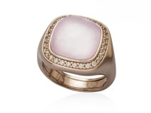 RING STERLING SILVER PLATED PINK GOLD 18 KTS 9383SK MARINA GARCIA