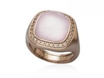 Anillo plata primera ley chapado en oro rosa de 18 kts 9383SK Marina Garcia