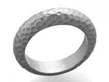 RHODIUM-PLATED MEASURE HAMMERED STERLING SILVER RING 14 TATUM 9101SB Marina Garcia