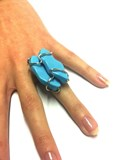 SILVER RING TURQUOISE Salvatore Plata A0688T