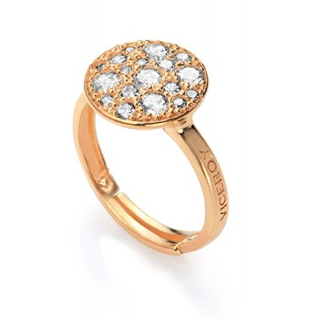 VICEROY GOLD PLATED SILVER RING 18 CARAT 1202A01-30